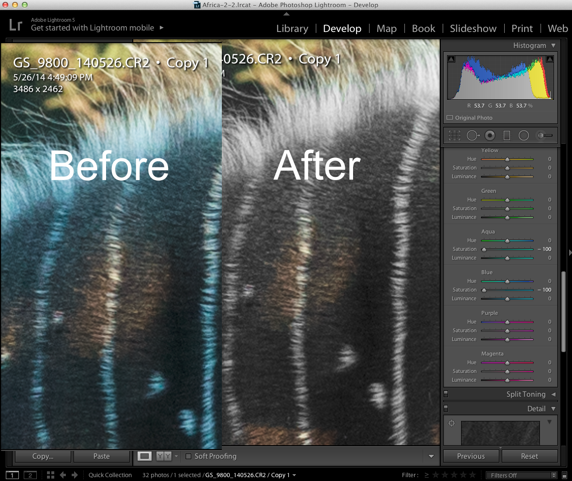 using the color adjustment tools